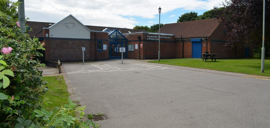 Front of Horncastle Pool & Fitness Suite, Horncastle Lincolnshire, Disabled Parking