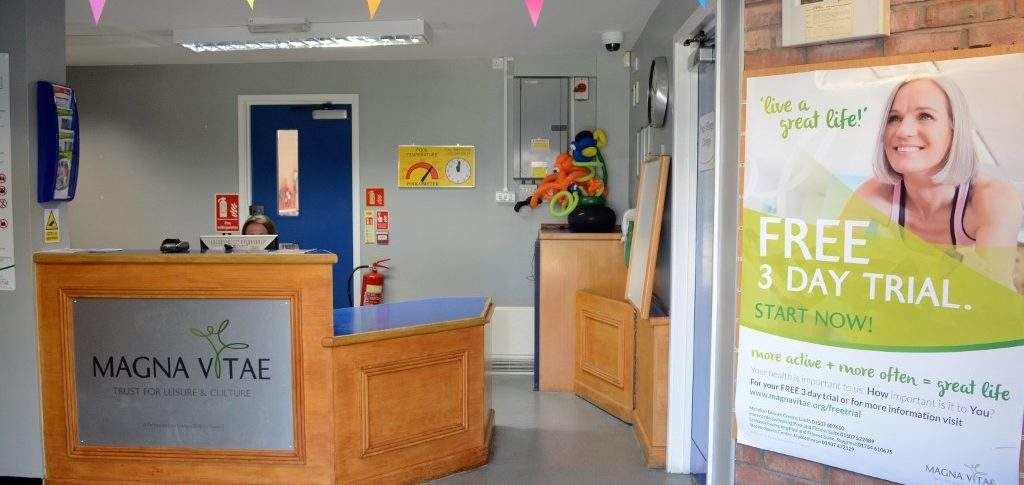 Reception, Horncastle Pool & Fitness Suite, Horncastle, Lincolnshire