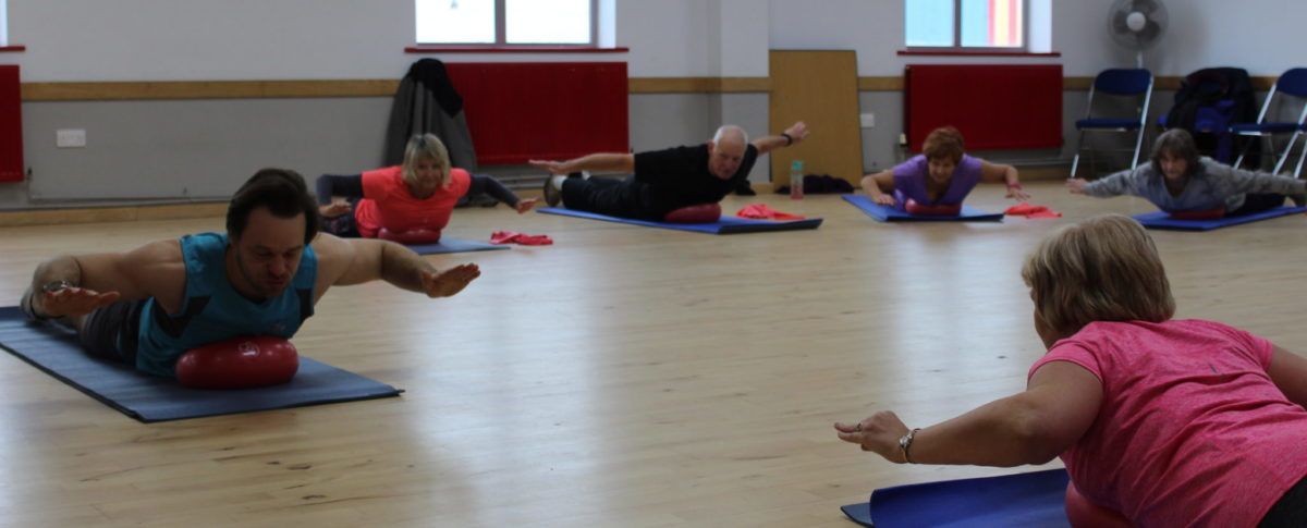 Stretching Class, Floor work with Balls, Skegness Pool & Fitness Suite, Skegness, Lincolnshire
