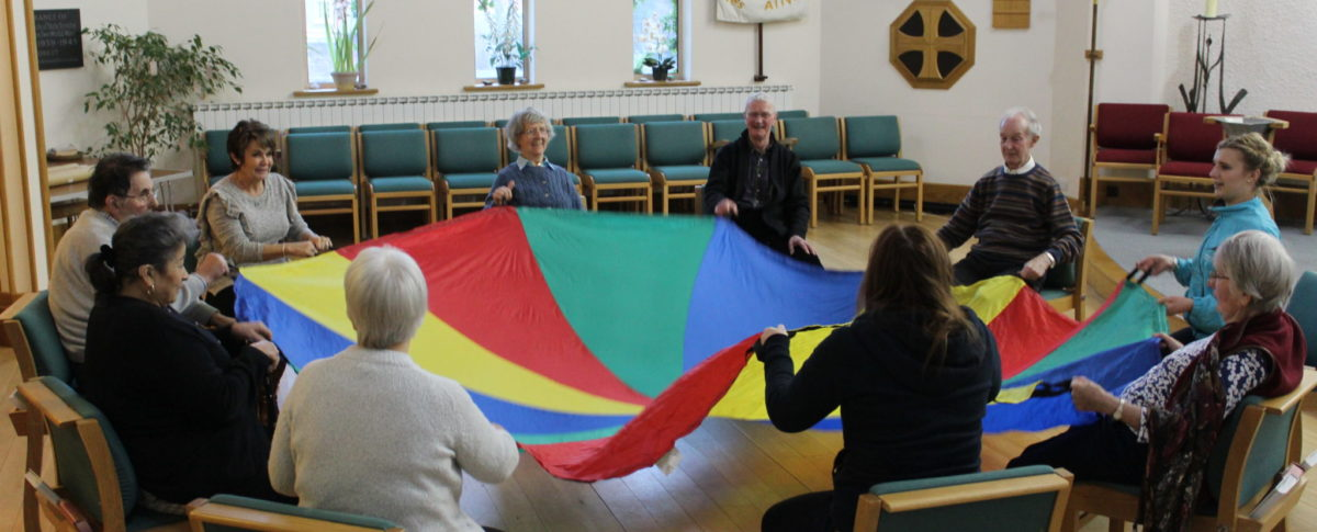 Parachute, Dementia Cafe, Trinity Centre, Louth, Lincolnshire